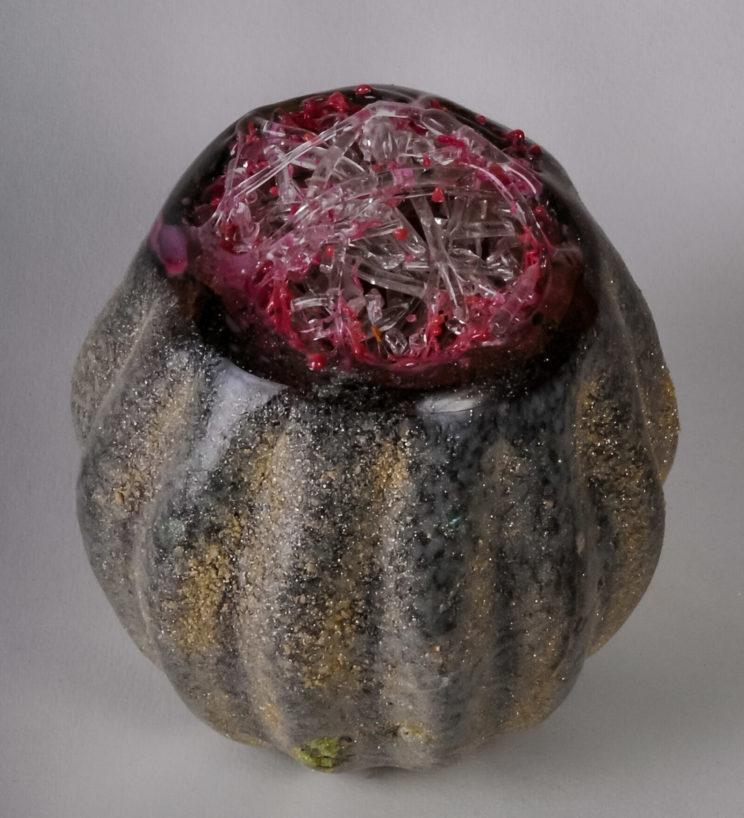 """Jeweled Pomegranate,  7""""h"""